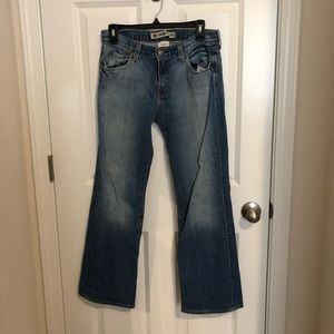 Gap Distressed Ankle Low Rise Boot Cut Jeans